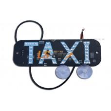 """Знак """"TAXI""""   12V LED (светодиодный) GR на ветровое стекло  (на 2-х присосках)"""