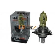 "Лампа галогеновая   H4 ""HOD-LUMAX"" 12V60/55W   P43T+50% (SOLAR YELLOW 2800K)"