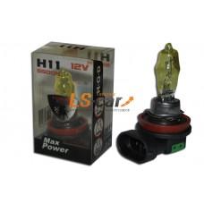 "Лампа галогеновая   H11 ""HOD-LUMAX"" 12V55W+50% (SOLAR YELLOW 2800K)"