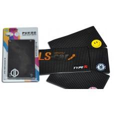 Коврик панели противоскользящий NT15х9см, Логотип /AMG/ силиконовый черный