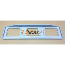 Рамка для номерного знака пластик (AB-003-С) серая