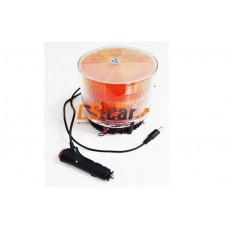 """Маяк автономный светодиодный 838 Y PRETY оранжевый (""""Стробоскоп-9"""", на магните, зарядка от прикуривателя, защитный колпак ) 12V"""