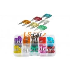 Набор флажковых предохранителей FU02 МИНИ 3-5-7,5--10-15-20-25-30-35-40А (10*10шт, пластик. бокс)
