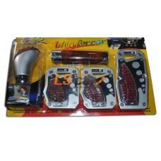 "Набор накладок на 3 педали ""TYPE R"" HJ-BP34A с ручкой КПП (под дерево)"
