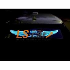 "Эквалайзер на стекло ""Крылья ангела - логотип Ford"", прозрачный фон, 90х25см"
