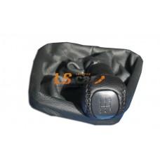 Ручка КПП на тросовый привод 2181 Лада Granta Лада Калина 2кожа,черн
