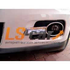 Рамки под противотуманные фары с ходовыми огнями Volkswagen Tiguan 2010-2015